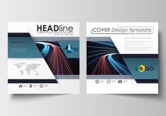 Business templates for square brochure, magazine, flyer, booklet. Leaflet cover Stock Illustration