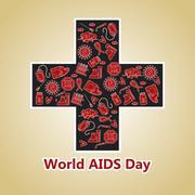 World Aids Day, December 1 Stock Illustration