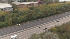 Police Attending the Scene of an Accident on a Motorway Stock Footage