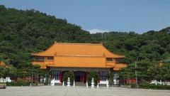 4K National Revolutionary Martyr's Shrine Entrance Building in Taipei-Dan Stock Footage