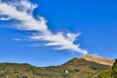 Italian landscape with special cloudscape Stock Photos