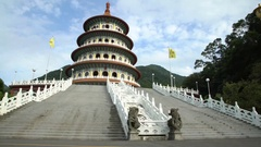 4K Tian Yuan Temple also called Temple of Heaven is a giant shrine Taoism-Dan Stock Footage
