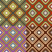 Set of seamless color patterns Stock Illustration