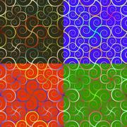Seamless patterns geometric shapes Stock Illustration