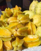 The star fruit or Carambola fruit Stock Photos
