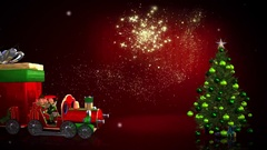 Christmas Toy Train Memories Stock After Effects