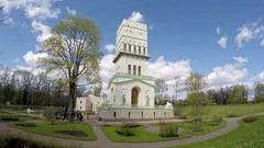 Petersburg. The White Tower in Aleksandrovsky park, Pushkin, Russia. time lapse Stock Footage