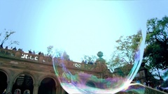 Big Soap Bubble Slow Motion 4K Stock Footage