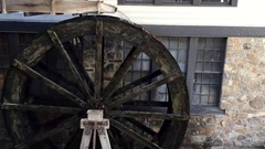 Water mill in motion HD Stock Footage