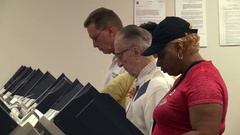 CU voters a electronic terminals cast early ballots 2016 presidential election Stock Footage