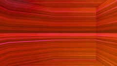 Broadcast Horizontal Hi-Tech Lines Dome, Red, Abstract, Loopable, 4K Stock Footage