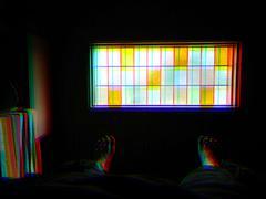 Dark window chroma mosaic illustration background Stock Photos
