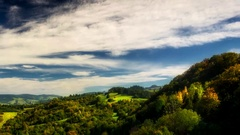 Timelapse clouds over Pieniny mountains. Stock Footage