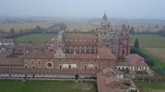 Certosa di Pavia Monastery Stock Footage