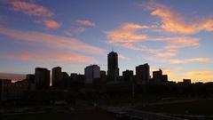 Denver Skyline Subtle Sunrise Stock Footage
