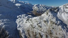 Swiss Glacier From Above Stock Footage