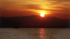 Bright sunset over the sea Stock Footage
