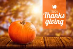 Composite image of thanksgiving greeting text Stock Photos