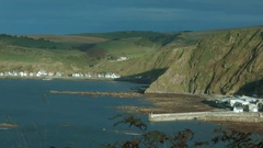 Gardenstown and Crovie, Aberdeenshire Stock Footage