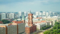 Rotes Rathaus Berlin Stock Footage