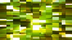 Twinkling Horizontal Small Squared Hi-Tech Bars, Green, Abstract, Loop, 4K Stock Footage