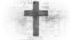 Religion faith cross. Words synonyms for religion Stock Footage