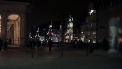 Evening Prominada. Karlovy Vary Stock Footage
