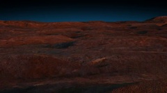 Flight over the surface of the planet Mars render 3d Stock Footage