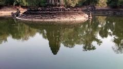 Neak Pean- religious  buildings complex near Siem Reap, Cambodia Stock Footage