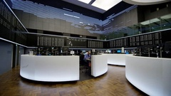 Inside view of the Frankfurt Stock Exchange Stock Footage