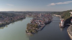 Passau in Germany City Reveal Stock Footage
