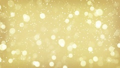Gold blurred lights loopable festive background 4k (4096x2304) Stock Footage