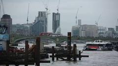 Westminster Bridge in London Stock Footage