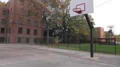 Basketball hoop still shot in color Stock Footage