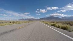 Nevada Desert Windmill Highway Driving Car Mount Stock Footage