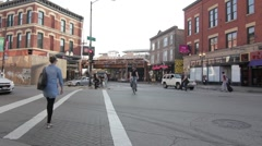 Wicker Park intersection Stock Footage