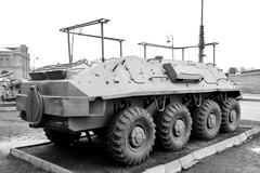 Armored troop-carrier. Stock Photos