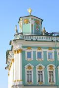 Telegraph tower of the Winter Palace. Stock Photos