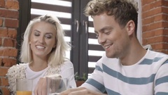 Happy young college students having spending great time together. Stock Footage
