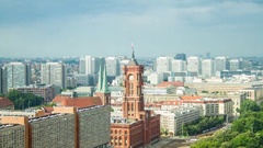 Berlin Rotes Rathaus timelapse Stock Footage