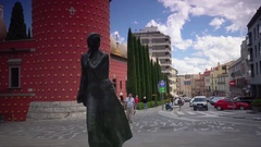 The Teatre Museum of Salvador Dali, Figueres, Spain,ULTRAHD 4K, real time Stock Footage