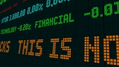 Stock market ticker this is no time to be trading stocks Stock Footage
