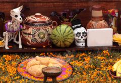 Alter at Dia de los Muertos Stock Photos