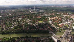 Hannover Aerial 4k Footage Stock Footage