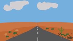 Cartoon driving car Stock Footage