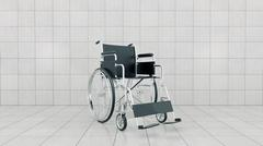 Vehicle for handicapped , wheelchair Stock Illustration