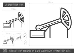 Oil production line icon Stock Illustration