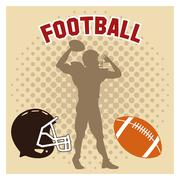 Player of american football design Stock Illustration