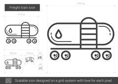 Freight train line icon Stock Illustration