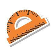 Protractor rule isolated icon Stock Illustration